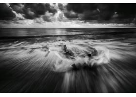 794238,地球,海洋,自然,地平线,黑色,白色,泡沫,云,壁纸