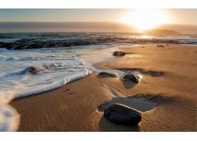 285849,地球,海滩,日出,波浪,海洋,沙,壁纸