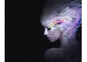 928712,女人,艺术的,妇女,女孩,羽毛,化妆品,幻想,壁纸