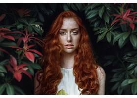 992049,女人,模特,妇女,女孩,红发的人,长的,头发,雀斑,蓝色,眼睛图片