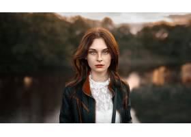993132,女人,模特,妇女,女孩,口红,深度,关于,领域,红发的人,雀斑