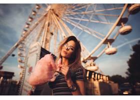 744047,女人,情绪,棉花,糖果,Ferris,车轮,壁纸