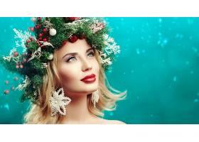 1059216,女人,脸,妇女,模特,女孩,口红,白皙的,花冠,蓝色,眼睛,壁
