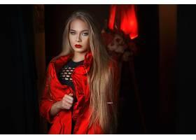1032031,女人,模特,妇女,女孩,白皙的,长的,头发,口红,蓝色,眼睛,图片