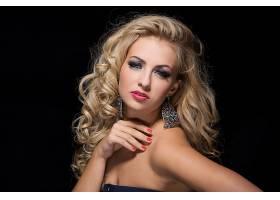 1061884,女人,模特,妇女,女孩,脸,白皙的,耳环,蓝色,眼睛,口红,壁
