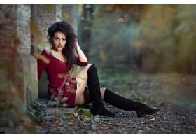 1054148,女人,模特,妇女,女孩,深度,关于,领域,靴子,黑色,头发,壁