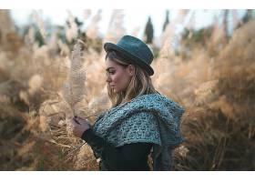 1019270,女人,模特,轮廓,妇女,女孩,帽子,深度,关于,领域,情绪,壁