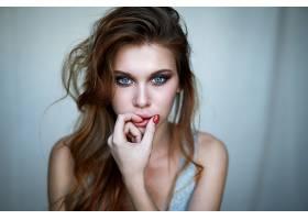 1025137,女人,模特,妇女,女孩,长的,头发,蓝色,眼睛,脸,红发的人,图片