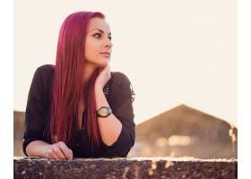 598885,女人,情绪,妇女,模特,棕色,眼睛,红色,头发,壁纸