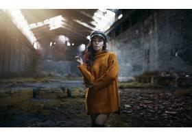 998684,女人,模特,妇女,女孩,帽子,深度,关于,领域,黑色,头发,壁