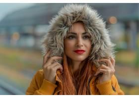 999316,女人,模特,妇女,女孩,口红,深度,关于,领域,红发的人,壁纸
