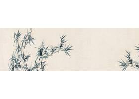 蓝色竹子中国风横幅背景