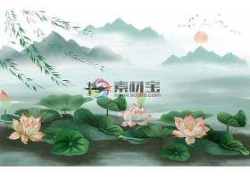 中国风江南美景装饰画