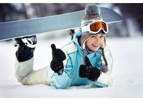 运动,单板滑雪,女孩,微笑,冬天的,帽子,壁纸