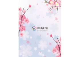 春天花卉背景素材图片
