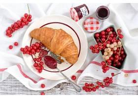 食物,早餐,困境,水果,牛角面包,仍然,生活,壁纸