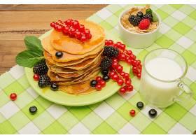 食物,博饼,Muesli,亲爱的,牛奶,早餐,黑莓,无核小葡萄干,壁纸