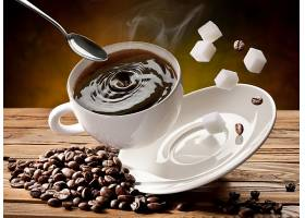 食物,咖啡,杯子,糖,咖啡,豆子,匙,壁纸