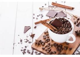 食物,咖啡,杯子,肉桂色,巧克力,咖啡,豆子,壁纸