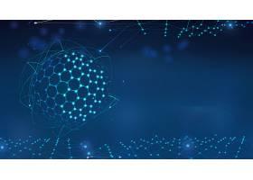 蓝色科技背景展板Banner