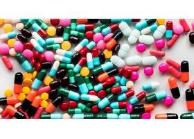 彩色药物背景