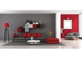 大气红灰色卧室设计