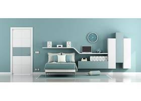 简约淡绿色卧室设计