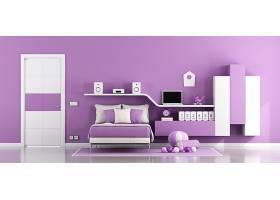 紫色系列卧室设计