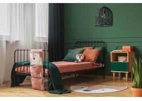 淡绿色儿童卧室装潢设计