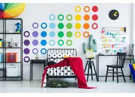 彩色儿童房装潢设计