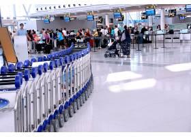 机场取票口