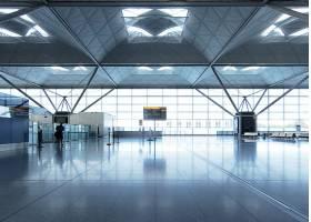 机场的入口摄影