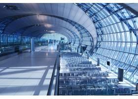 清晨机场候机位