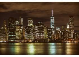 建筑群灯光夜景