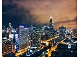俯瞰城市夜景