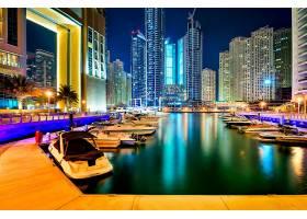 渔港城市夜景