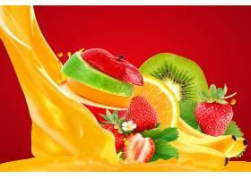 食物,水果,水果,苹果,草莓,猕猴桃,橙色的,壁纸