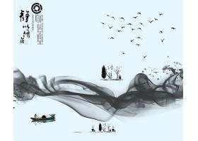 中国风修身养性水墨背景图片
