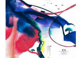 中国风抽象水墨背景图片