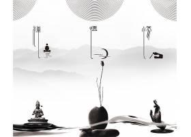 中国风简约水墨背景图片