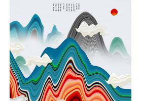 中国风抽象山水水墨背景图片