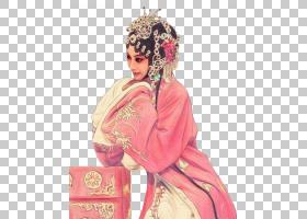 国潮典雅京剧女子PNG免抠背景