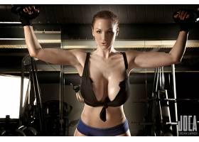 人,乔丹卡弗,健身房,胸部,健身模特,大胸部,运动,美女,模特4780