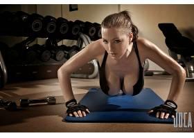 人,乔丹卡弗,胸部,健身房,大胸部,看着观众,美女,模特4781