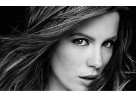 人,凯特贝金赛尔,美女,黑发,单色,面对,看着观众,演员,肖像,名人5
