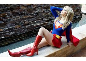 人,动漫,超级英雄,美女,角色扮演,超女,服装,金发,模特,靴子,腿66