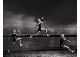 人,体育,跳跃,乌贼,美女,健身模特69320