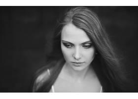 人,单色,美女,肖像,模特,面对65860
