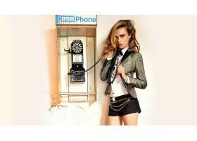 人,卡拉Delevingne,模特,金发,绿眼睛,夹克,上衣,链,电话,美女500