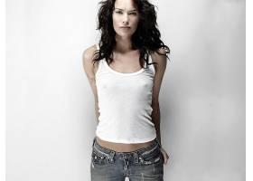人,莉娜海蒂,演员,美女,黑发,罐顶,简单的背景61893